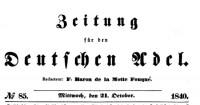 18:40 Zeitung für den deutschen Adel, Januar 1840