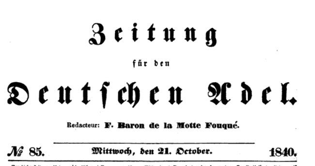 Zeitung für den Deutschen Adel