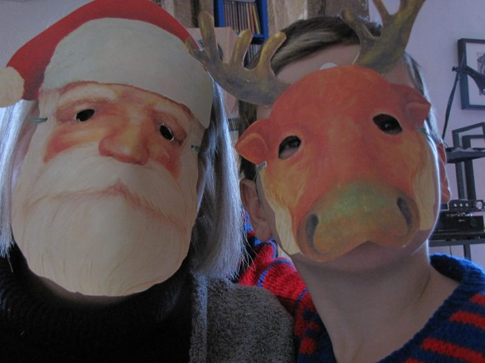 Connie (Weihnachtsmann) und Lucie (Rentier)