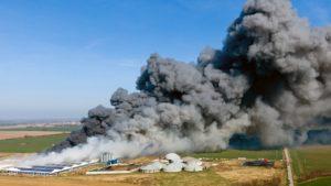 Brand der Anlage in Alt-Tellin