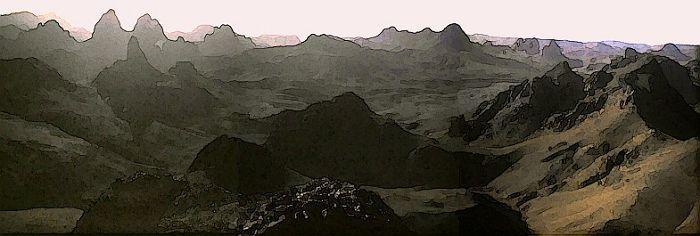Sonnenaufgang im Hoggar-Gebirge