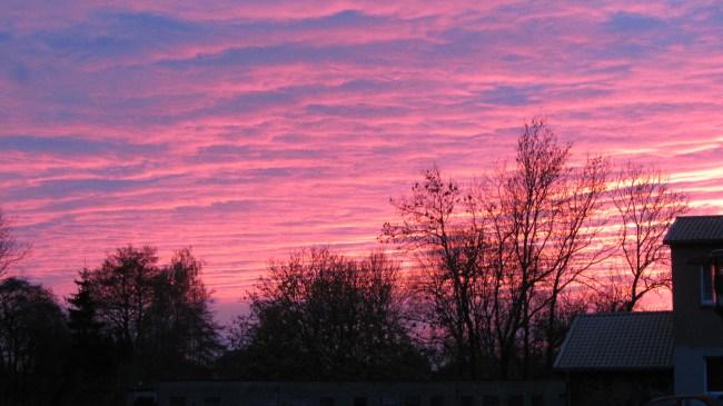 Sonnenuntergang in Gribow